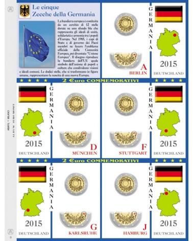 2€ delle 5 Zecche di Germania, aggiornamento 2015 BANDIERA