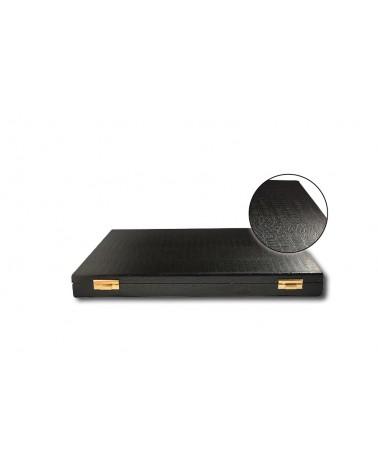 Minidipolmat - Astuccio vuoto,color nero, modello coccodrillo