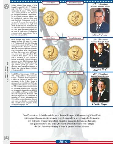 One Dollar Coins - foglio di aggiornamento 2016
