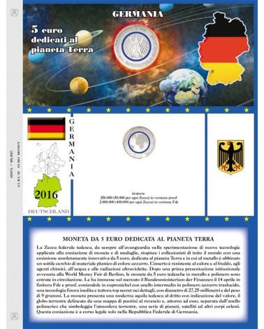 FOGLIO GERMANIA 5€ COMMEMORATIVI 2016 SINGOLA