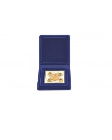 Moneyfloc - scatola 10 astucci blu - riquadro per certificato