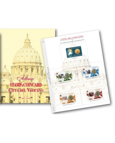 BLOCCO DI 5 FOGLI VATICANO COIN CARD 2010 - 2017