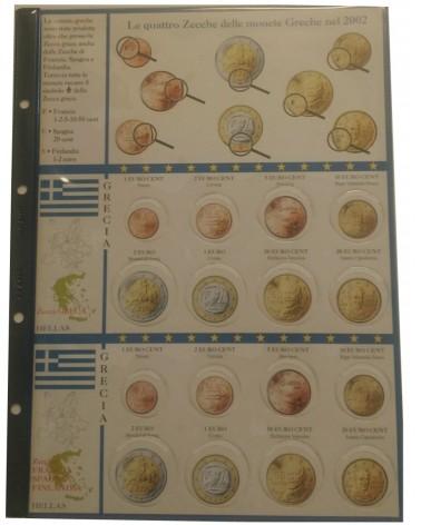 FOGLIO EUROMONEY 4 ZECCHE MONETE GRECHE 2012