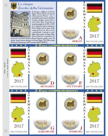 2€ delle 5 Zecche di Germania, aggiornamento 2017