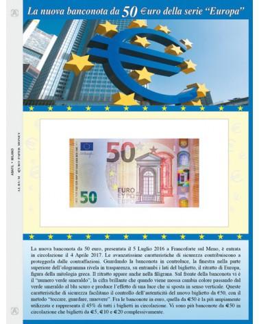 FOGLIO PER BANCONOTA 50 Euro
