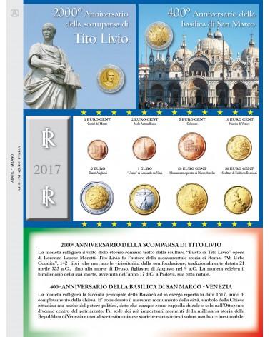 EURO ITALIA - MONETE SERIE SCIOLTE 2017
