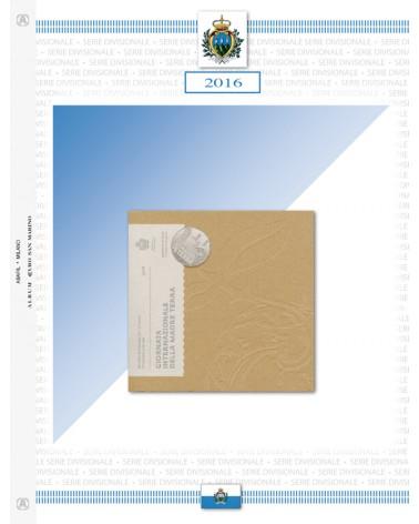 San Marino - Serie Divisionali 2016,con argento