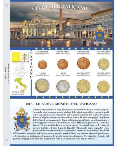 FOGLIO EUROMONEY VATICANO 2017 SERIE STEMMA