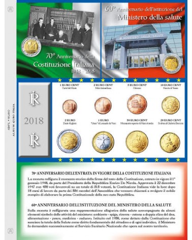 EURO ITALIA - MONETE SERIE SCIOLTE  2018