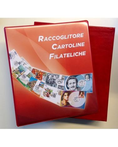 ALBUM PER CARTOLINE FILATELICHE COMPLETO