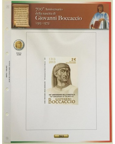 AGG. 2€ ITALIA COIN CARD 2013 BOCCACCIO