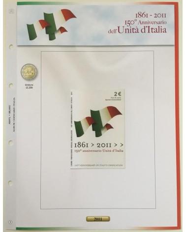 AGG. 2€ ITALIA COIN CARD 2011 UNITA' D'ITALIA