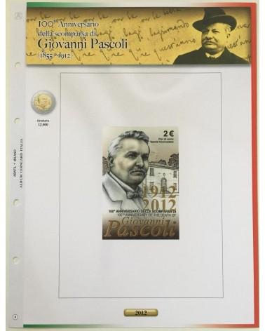 AGG. 2€ ITALIA COIN CARD 2012 PASCOLI