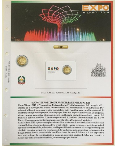 AGG. 2€ ITALIA COIN CARD 2015 EXPO