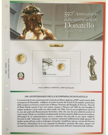 AGG. 2€ ITALIA  COIN CARD 2016 DONATELLO