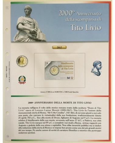 AGG. 2€ ITALIA COIN CARD 2017 TITO LIVIO