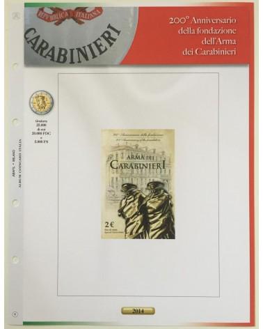 AGG. 2€ ITALIA COIN CARD 2014 CARABINIERI