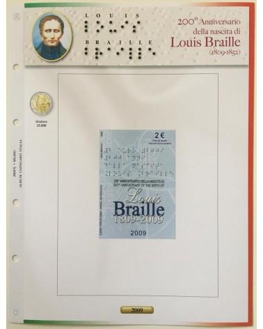 AGG. 2€ ITALIA COIN CARD 2009 BRAILLE