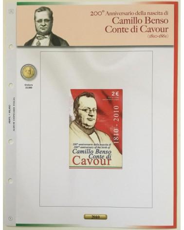 AGG. 2€ ITALIA COIN CARD 2010 CAVOUR