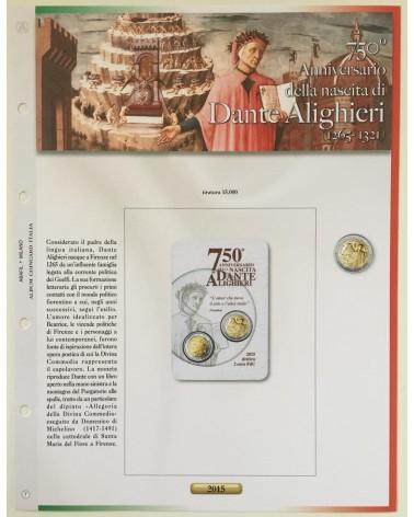 AGG. 2€ ITALIA COIN CARD 2015 DANTE ALIGHIERI