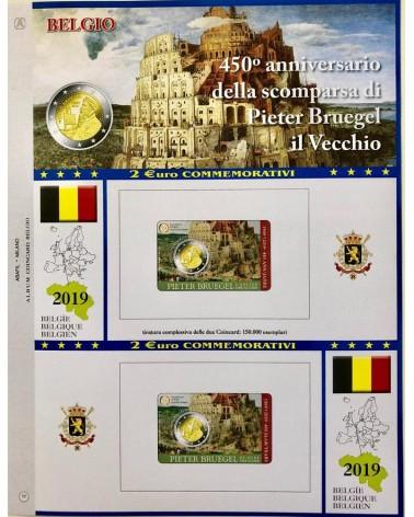 2 € AGGIORNAMENTO BLISTER BELGIO 2019 PIETER BRUEGEL 2