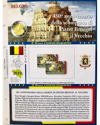 2 € AGGIORNAMENTO BLISTER BELGIO 2019 PIETER BRUEGEL 1