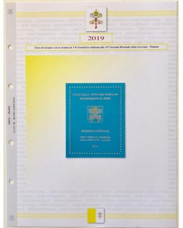 VATICANO -SERIE DIVISIONALI 2019 CON BIMETALLICO