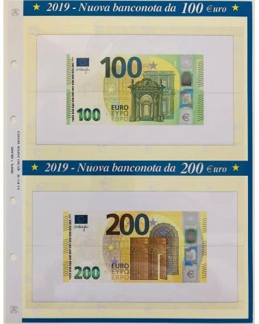 FOGLIO PER BANCONOTA 100 - 200  Euro