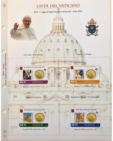 1-AGGIORNAMENTO VATICANO COIN CARD 2018/2019 VIAGGI PAPA