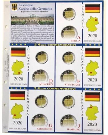 2€ delle 5 Zecche di Germania, palazzo Sanssouci 2020