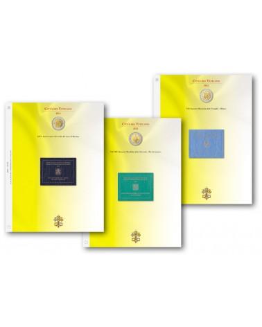 BLOCCO FOGLI 2€ COMMEMORATIVI VATICANO 2015/2019