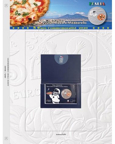 FOGLIO 5€ -2020 ITALIA PIZZA E MOZZARELLA