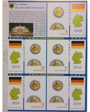 2€ delle 5 zecche di Germania, aggiornamento 2010
