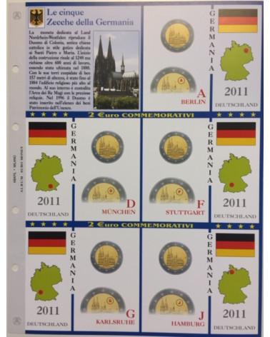 2€ delle 5 zecche di Germania, aggiornamento 2011