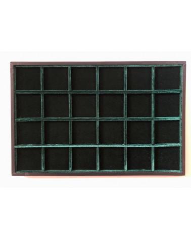Novità ripiano standard velluto verde 24 caselle cm 33,5 x 22