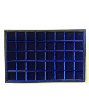 Novità ripiano standard velluto blu 40 caselle cm 33,5 x 22