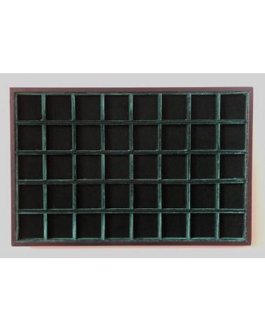 Novità ripiano standard velluto verde 40 caselle cm 33,5 x 22