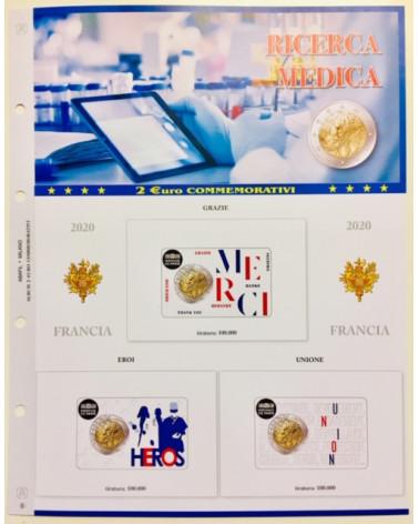 2 euro aggiornamento Francia 2020 ricerca medica