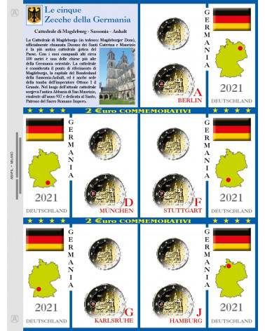 2€ of 5 mints of Germany 2020 Sassonia