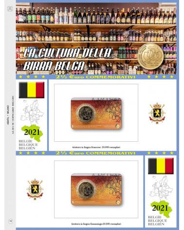2€ 1/2 blister Belgio double  2021the Belgian beer culture
