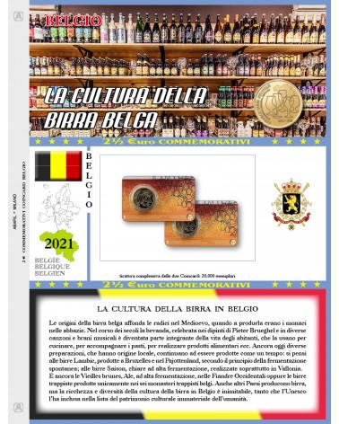 2€ 1/2 blister Belgio 2021 single Belgian beer culture