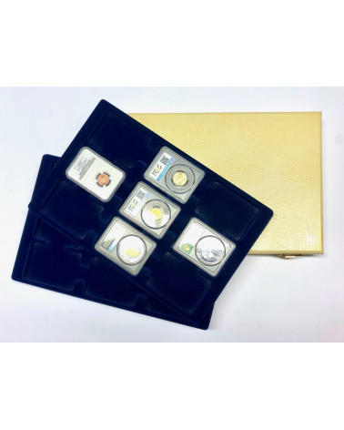 Minidiplomat limited edition beige with blue slabs trays