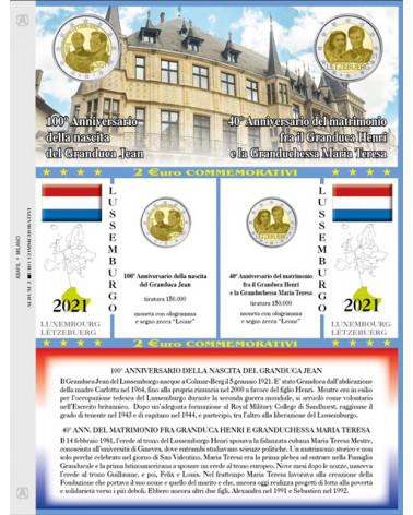 2 euro aggiornamento 2021 Lussemburgo nascita / matrimonio