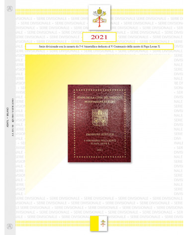 Vatican City - Divisional Series 2021 with bimetallic coin