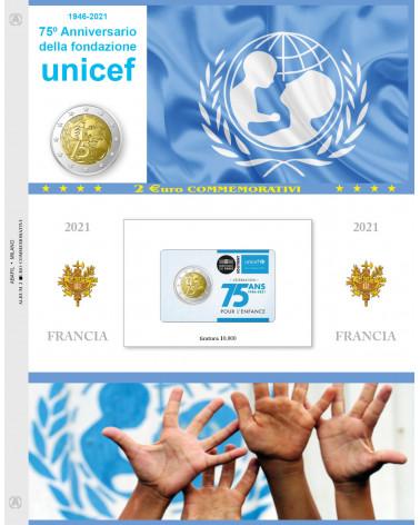 2 euro aggiornamento Francia 2021 Unicef