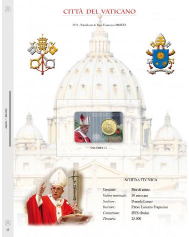 UPDATE COIN CARD VATICAN CITY Pope Francesco NR 12 2021