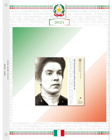 EURO ITALY - SET COINS 2021 Grazia Deledda