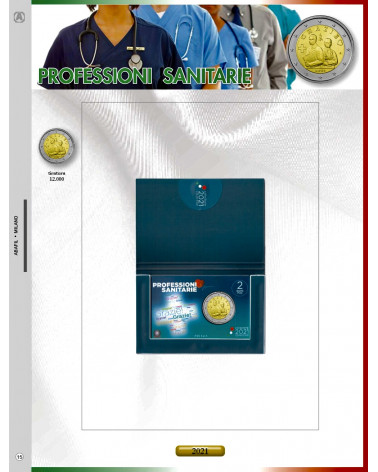Update 2€ coin card 2021 health care professions