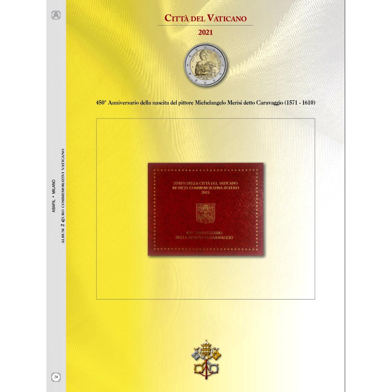 AGGIORNAMENTO VATICANO 2€ COMMEMORATIVO 2021 Caravaggio