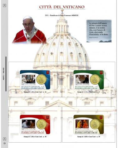 UPDATE COIN CARD VATICAN CITY Pope Francesco NR 13 2021